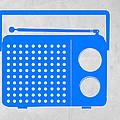 Blue Transistor Radio by Naxart Studio