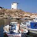 Boats And Windmill by Jane Rix