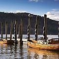 Boats Docked On A Pier, Keswick by John Short