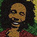 Bob Marley Bottle Cap Mosaic by Paul Van Scott