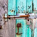 Bolted door Print by Tom Gowanlock