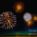 Bombs Bursting In The Air Print by Robert Bales