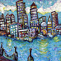 Boston Harbor Print by Jason Gluskin