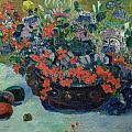 Bouquet of Flowers Print by Paul Gauguin