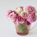 Bouquet Of  Pink Ranunculus by Elin Enger