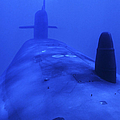 Bow View Of The Uss Kamehameha by Michael Wood