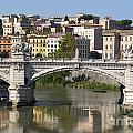 Bridge Ponte Vittorio II. River Tiber.Rome Print by BERNARD JAUBERT