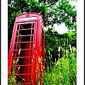 British Telephone Booth in a Field Print by Kara Ray