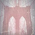 Brooklyn Bridge Red by Naxart Studio