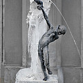 Brunnenbuberl - Boy At The Fountain -  Munich Germany by Christine Till