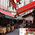 Brussels Restaurant Street - Rue De Bouchers by Carol Groenen