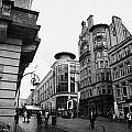 Buchanan Street Shopping Area On A Cold Wet Day In Glasgow Scotland Uk by Joe Fox