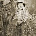 Buckaroo Cowgirl And Horse by Cindy Singleton