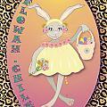 Bunnie Girls- Flowah Chile 1 Of 4  by Brenda Dulan Moore