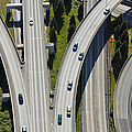 Busy Freeway Interchange by Don Mason