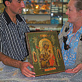 Buying Icon In Jerusalem by Carl Purcell