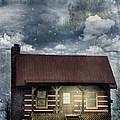 Cabin At Night by Stephanie Frey