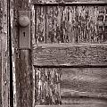 Cabin Door Bw by Steve Gadomski
