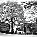 Cabin Under Buttermilk Skies Vignette by Dan Carmichael