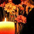 Candle Lit Print by Kristin Elmquist
