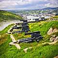 Cannons On Signal Hill Near St. John's by Elena Elisseeva
