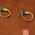 Caprine-head Earrings by Andonis Katanos