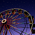 Carnival Ferris Wheel Against Starry Night Sky by Heather Cate Photography