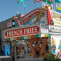 Carnival Festival Fun Fair French Fries Food Stand by Kathy Fornal