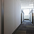 Carpeted Hall With Office Cubicles by Jetta Productions, Inc