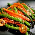 Carrot And Green Beans Stir Fry by Iris Filson