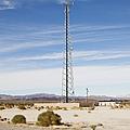 Cellular Phone Tower In Desert by Paul Edmondson