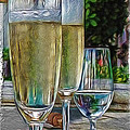 Champagne At The Beach by Joan  Minchak