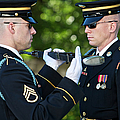 Changing Of Guard At Arlington National by Terry Moore
