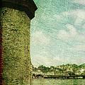 Chapel Bridge Tower In Lucerne Switzerland by Susanne Van Hulst