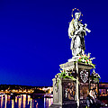 Charles Bridge Statue Of St John Of Nepomuk     by Jon Berghoff