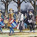 Charles I's Last Walk  Print by Ron Embleton
