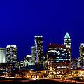 Charlotte NC Skyline at dusk Print by Patrick Schneider