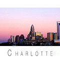 Charlotte Nc Skyline Pink Sky by Patrick Schneider