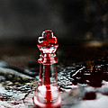Chess Piece in Blood Poster by Stephanie Frey