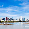 Chicago Lakefront Skyline Wide Angle Print by Paul Velgos