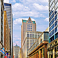 Chicago - Looking South From Lasalle Street by Christine Till