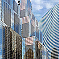 Chicago - One South Wacker And Hyatt Center by Christine Till