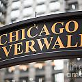 Chicago Riverwalk Sign by Paul Velgos