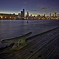 Chicago skyline and Harbor at dusk Print by Sven Brogren
