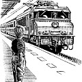 Child Train Safety, Artwork by Bill Sanderson