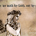 Christian Faith Girl Angel With Praying Hands by Kathy Fornal
