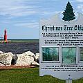 Christmas Tree Ship Point At Algoma Harbor by Mark J Seefeldt