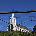 Church And Barbed Wire by Garry Gay