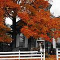 Church In Autumn by Andrea Kollo