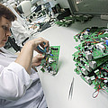 Circuit Board Assembly Work Print by Ria Novosti
